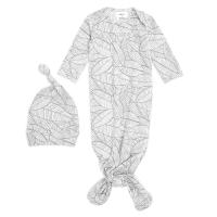 Aden Anais Baby Schlafsack + Mütze, 0-3 M - Zebra Plant