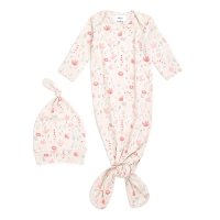 Aden Anais Baby Schlafsack + Mütze, 0-3 M - Perennial