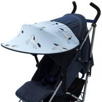 Leokid Sonnenschutz für Kinderwagen und Kindersitze, Blue Magic Horse
