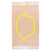 Trixie Kinderteppich organische Baumwolle (80x120cm), Lemon Squash