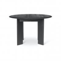 Ferm Living Bevel Tisch rund 117 cm, Schwarz Eiche geölt