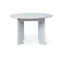 Ferm Living Bevel Tisch rund 117 cm, Ice Blue