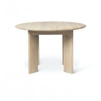 Ferm Living Bevel Tisch rund 117 cm, Weiss geölte Eiche