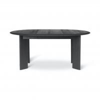 Ferm Living Bevel Tisch erweiterbar 117-167 cm, schwarz geölte Eiche