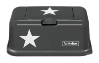 FunkyBox Feuchttücher Box, Dark Grey Star