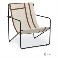 Ferm Living Desert Lounge Chair, Black/Stripes