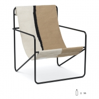 Ferm Living Desert Lounge Chair, Black/Soil