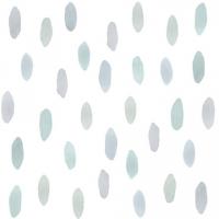 Tresxics textile Wandstickers Wasserfarben Tropfen, Blau