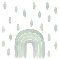 Tresxics textile Wandstickers Wasserfarben Regenbogen & Tropfen, Grün