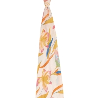 Aden Anais Silky Soft Mulltuch Swaddle, Marine Gardens-Floral Seaweed