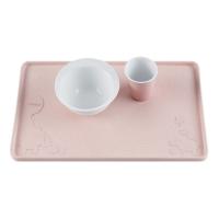 Hevea Tischauflage aus Naturkautschuk, rosa