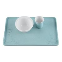 Hevea Tischauflage aus Naturkautschuk, blau