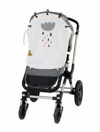 Leokid Sonnen- & Windschutz für den Kinderwagen, Summer Cloud