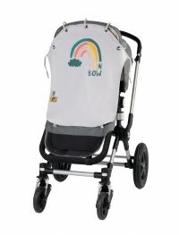 Leokid Sonnen- & Windschutz für den Kinderwagen, Fancy Rainbow