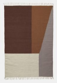 Ferm Living Kelim Teppich Borders, 140 x 200