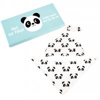 Rex London Baby Mütze + Dreieckstuch aus Bio-Baumwolle, Miko The Panda