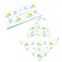 Rex London Baby Mütze + Dreieckstuch aus Bio-Baumwolle, Skylark