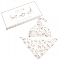 Rex London Baby Mütze + Dreieckstuch aus Bio-Baumwolle, Kitty Cats