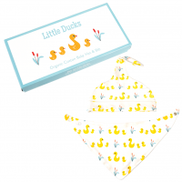 Rex London Baby Mütze + Dreieckstuch aus Bio-Baumwolle, Little Ducks