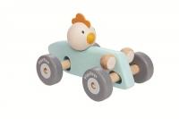 PlanToys Rennwagen mit Huhn