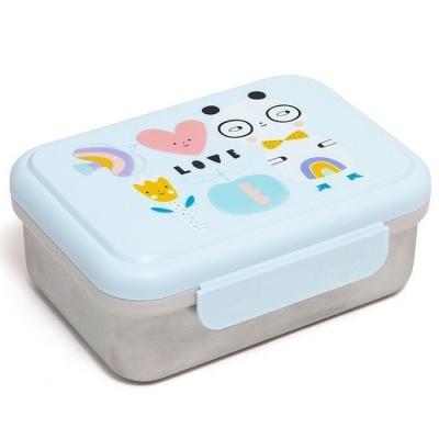 Petit Monkey Edelstahl Lunch Box, Panda Love
