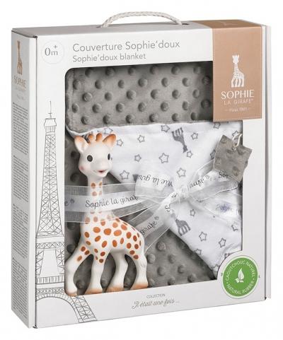 Sophie la girafe Geschenkset mit Kuscheldecke