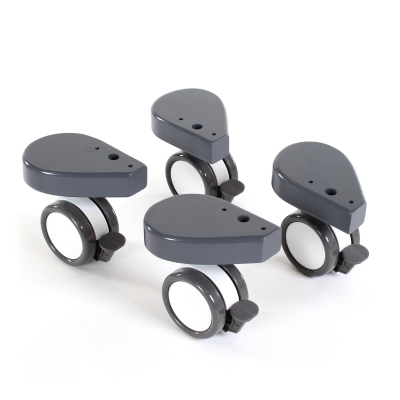 babybay Rollensatz mit Stossschutz passend für alle Modelle, schiefergrau