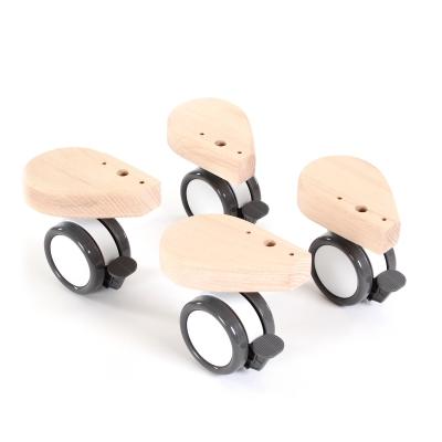babybay Rollensatz mit Stossschutz passend für alle Modelle, natur unbehandelt
