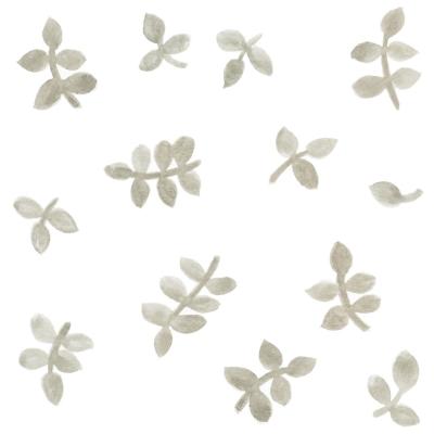 Tresxics textile Wandstickers Wasserfarben Blätter, Grau