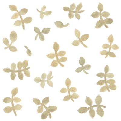 Tresxics textile Wandstickers Wasserfarben Blätter, Gelb