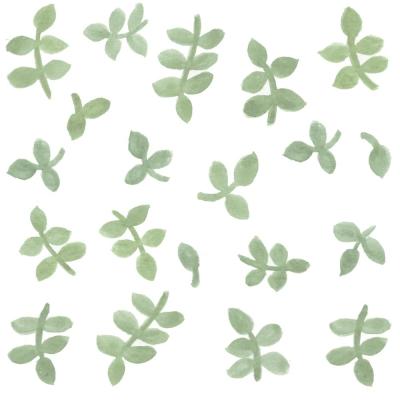 Tresxics textile Wandstickers Wasserfarben Blätter, Mint