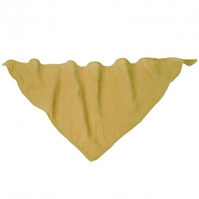 Kikadu Musselin Dreieckstuch, Mustard