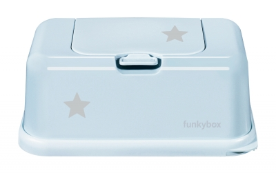 FunkyBox Feuchttücher Box, Baby Blue Little Star