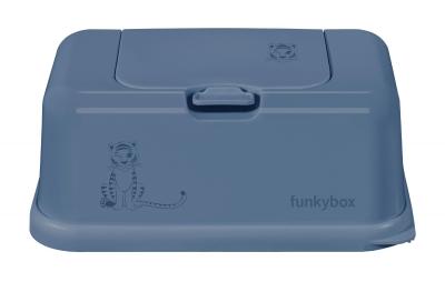 FunkyBox Feuchttücher Box, Blue Jeans Tiger