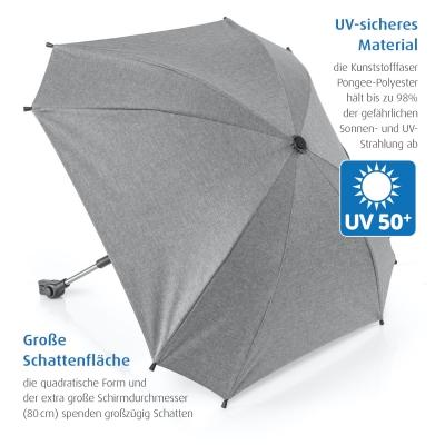 reer Sonnenschirm ShineSafe+ für alle Marken, Grau
