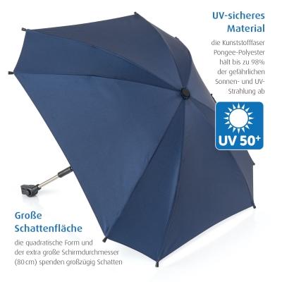 reer Sonnenschirm ShineSafe+ für alle Marken, Blau