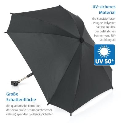 reer Sonnenschirm ShineSafe+ für alle Marken, Schwarz