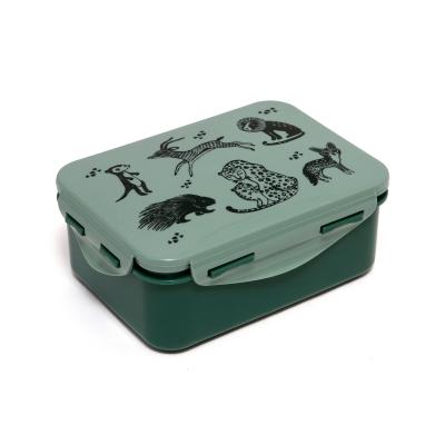 Petit Monkey Lunch Box, Black Animals Salie