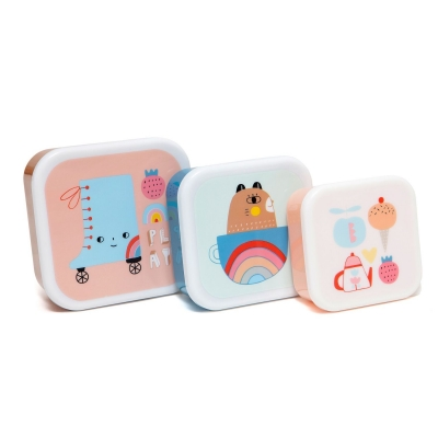 Petit Monkey Set 3 Snack-Dosen, Skate Boot