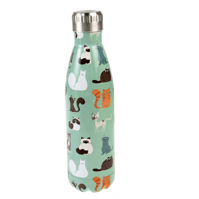 Rex London Edelstahl Thermosflasche, Nine Lives