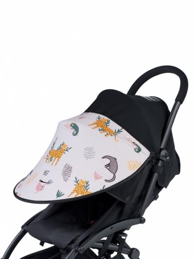 Leokid Sonnenschutz für Kinderwagen und Kindersitze, Animal Friends