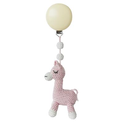 NatureZoo of Denmark Kinderwagen-Spielzeug, Baby Pink Llama