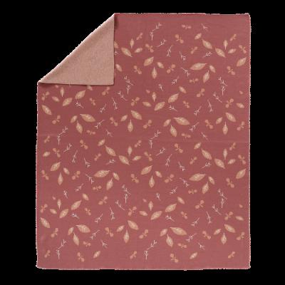 Fresk fein gestrickte Decke 80x100 - Forest Rose