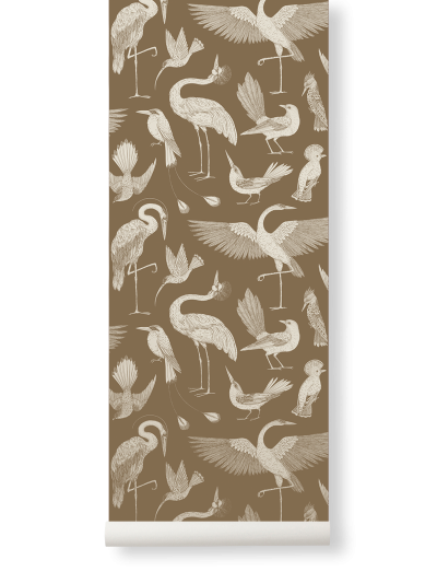 Ferm Living Tapeten Birds, Sugar Kelp