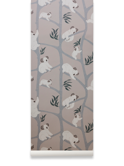 Ferm Living Tapeten Koala, Grey