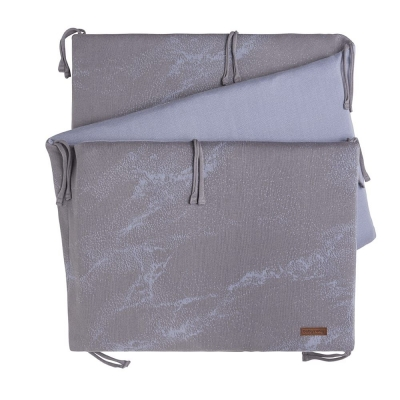 Babys Only Bettnestchen Marble, Cool Grey Lila