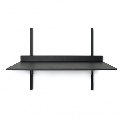 Ferm Living Sector-Tisch, Black Ash - Black Brass
