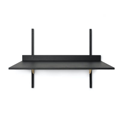 Ferm Living Sector-Tisch, Black Ash - Brass