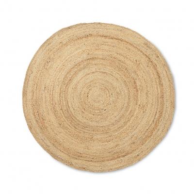 Ferm Living Erternal Round Jute Teppich, Natural, klein