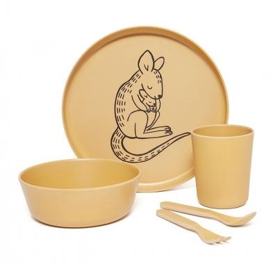 Petit Monkey Bambus Geschirr-Set, Känguru